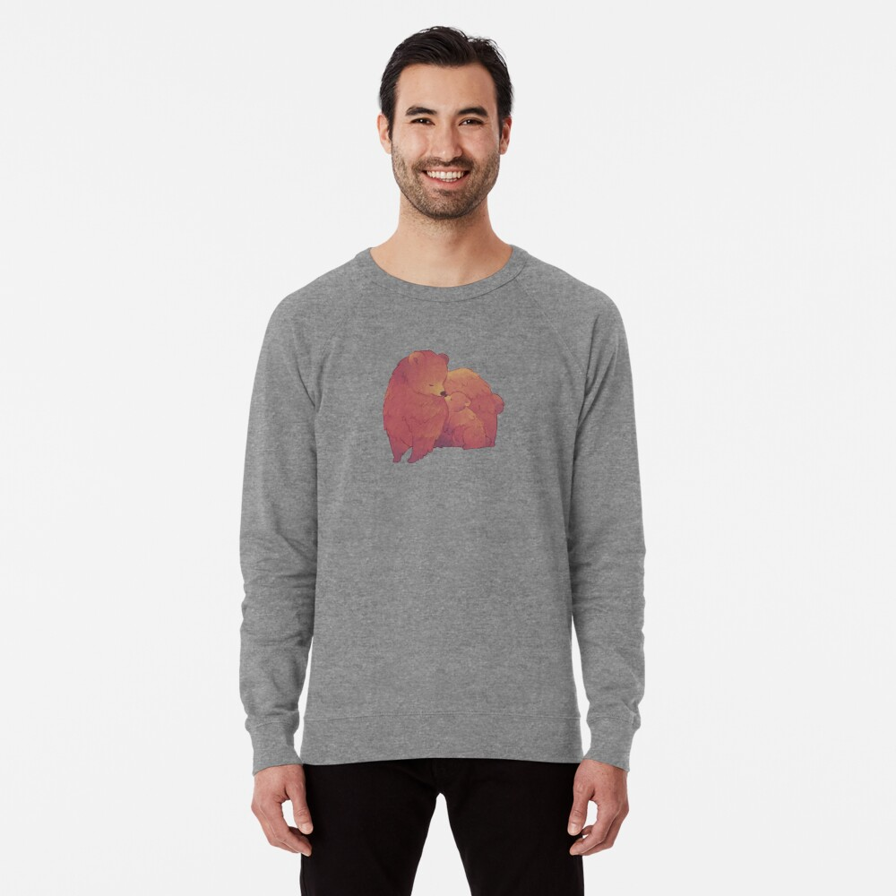 Mama Bear & Cub - [Dark BG] Lightweight Sweatshirt