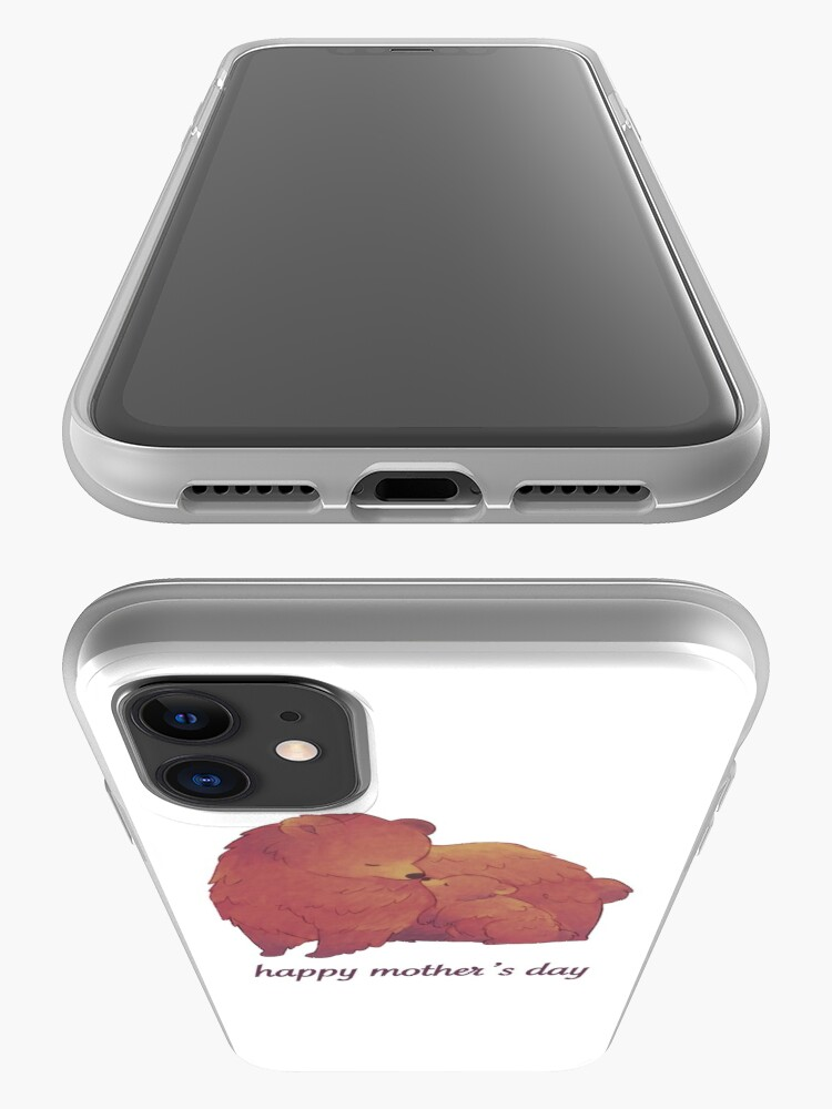 Alternate view of Happy Mothers Day - Mama Bear & Cub [Light BG] iPhone Case & Cover