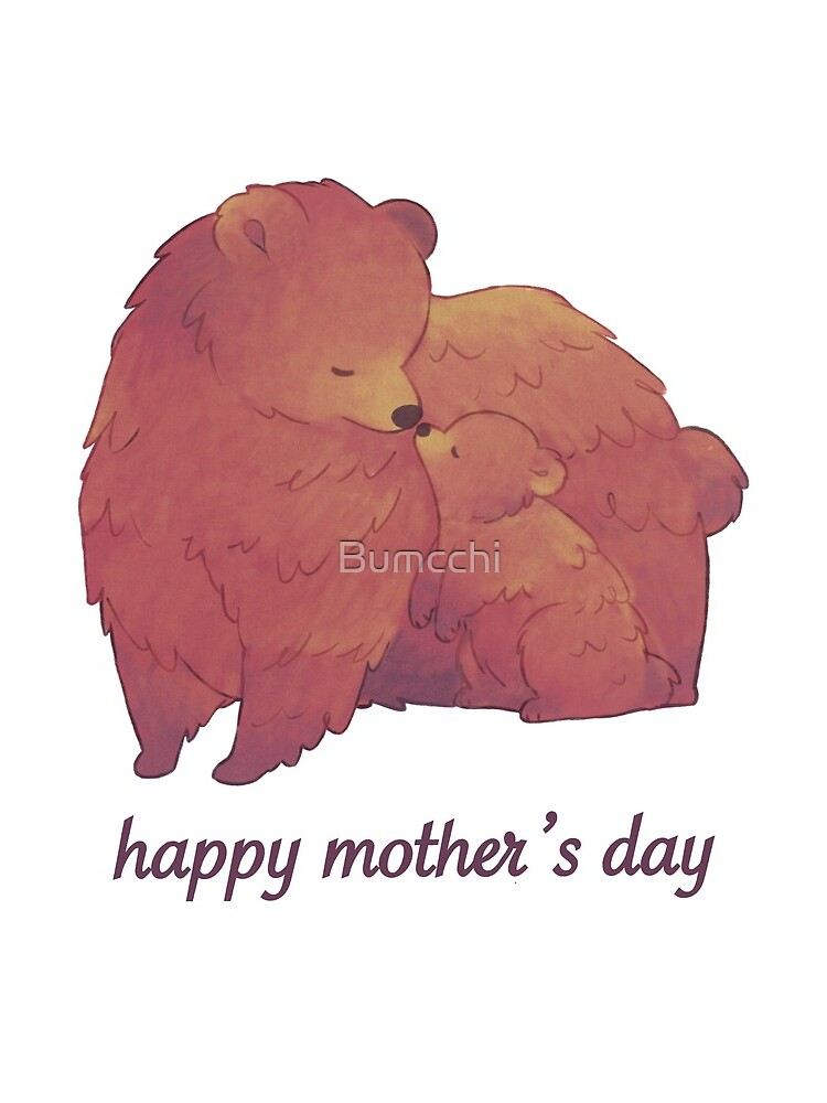 Happy Mothers Day - Mama Bear & Cub [Light BG] by Bumcchi