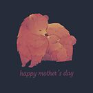 Happy Mothers Day - Mama Bear & Cub [Dark BG] by Bumcchi