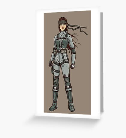 Solid Snake (F-type) Greeting Card