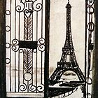 Postcard from Paris III - watercolour on paper by ChristineBetts