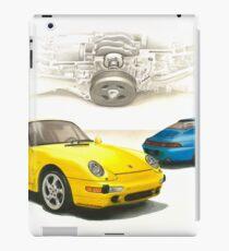 """Gelbe und blaue Porsche """" iPad-Hülle & Klebefolie"""