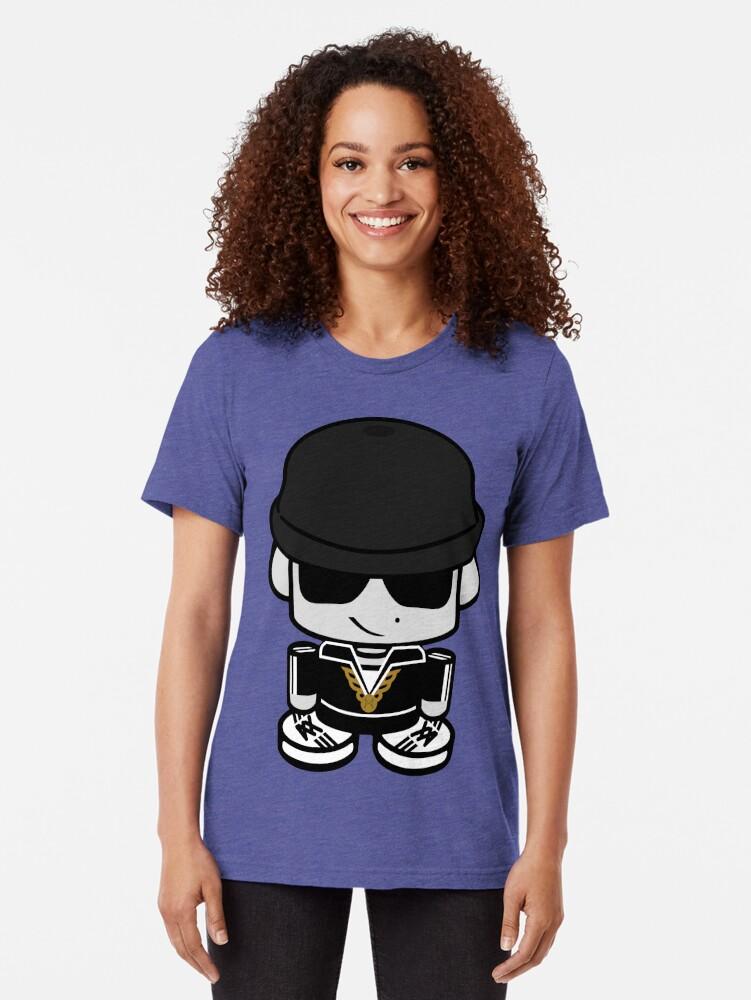 Alternate view of Hollis Geo'bot Tri-blend T-Shirt