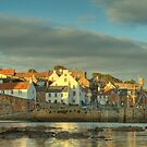 Evening Sun - Crail Harbour by KitDowney