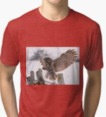 Great Grey Owl Tri-blend T-Shirt