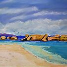 «Rocas del suroeste, Trial Bay, NSW.» de Virginia McGowan