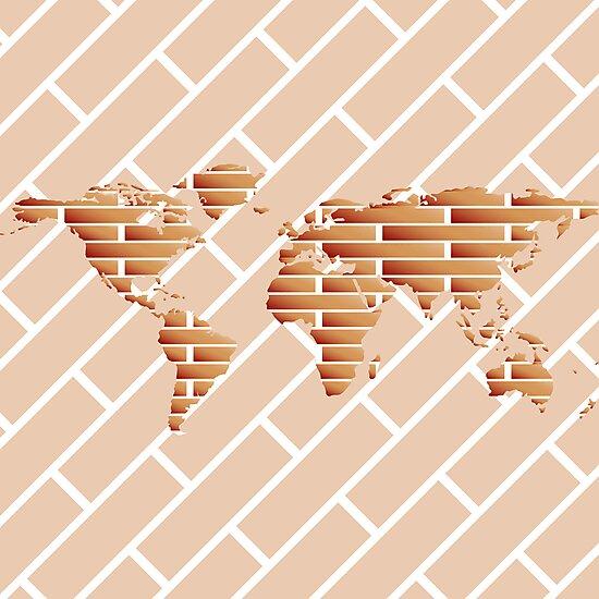 Bricks world map by Laschon Robert Paul