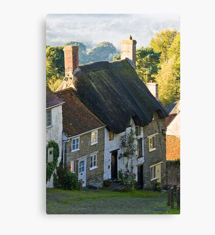 Gold Hill Shafstbury, Canvas Print