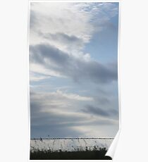 The morning clouds in Wakarusa Poster