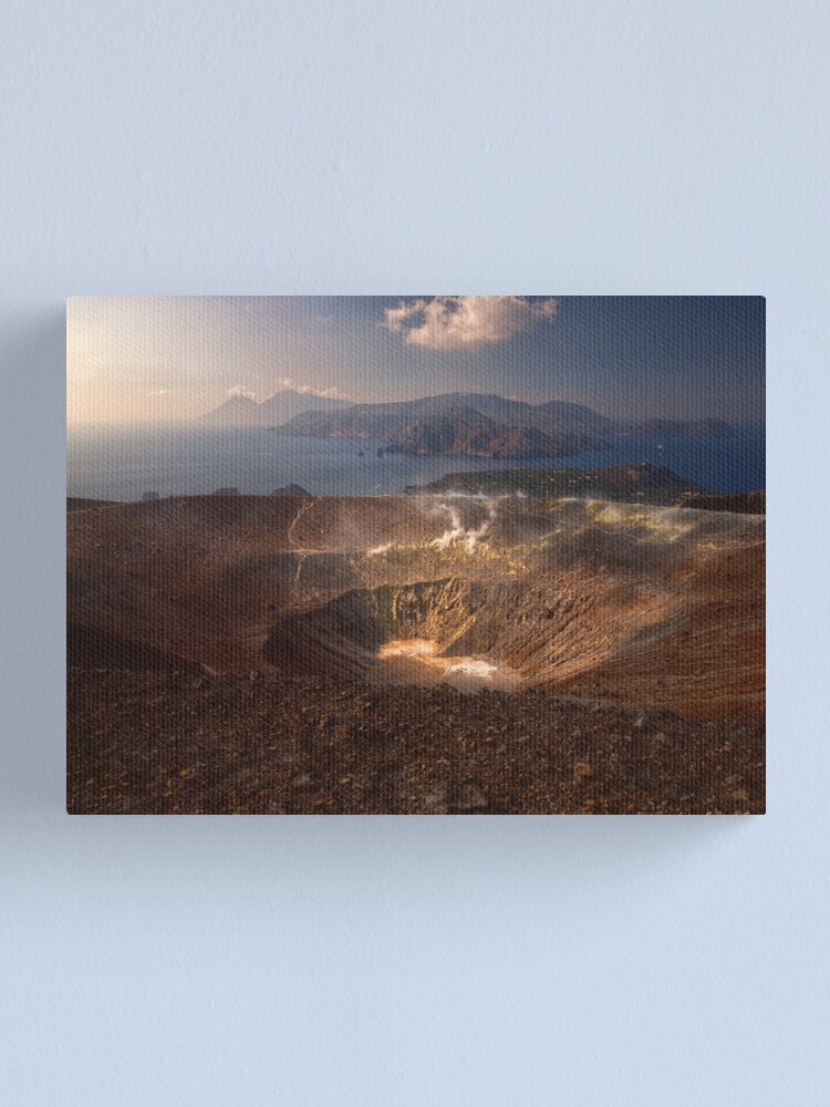 Alternate view of From the top of Vulcano  Canvas Print