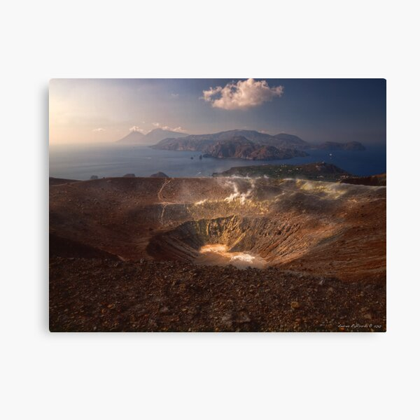 From the top of Vulcano  Canvas Print