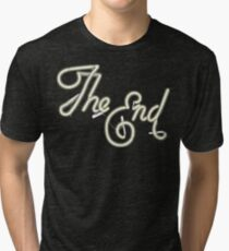 THE END - MOVIE CREDITS Tri-blend T-Shirt