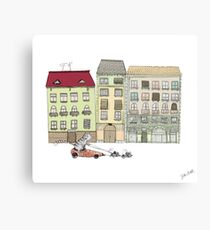 Budapest and the wandering cat Canvas Print