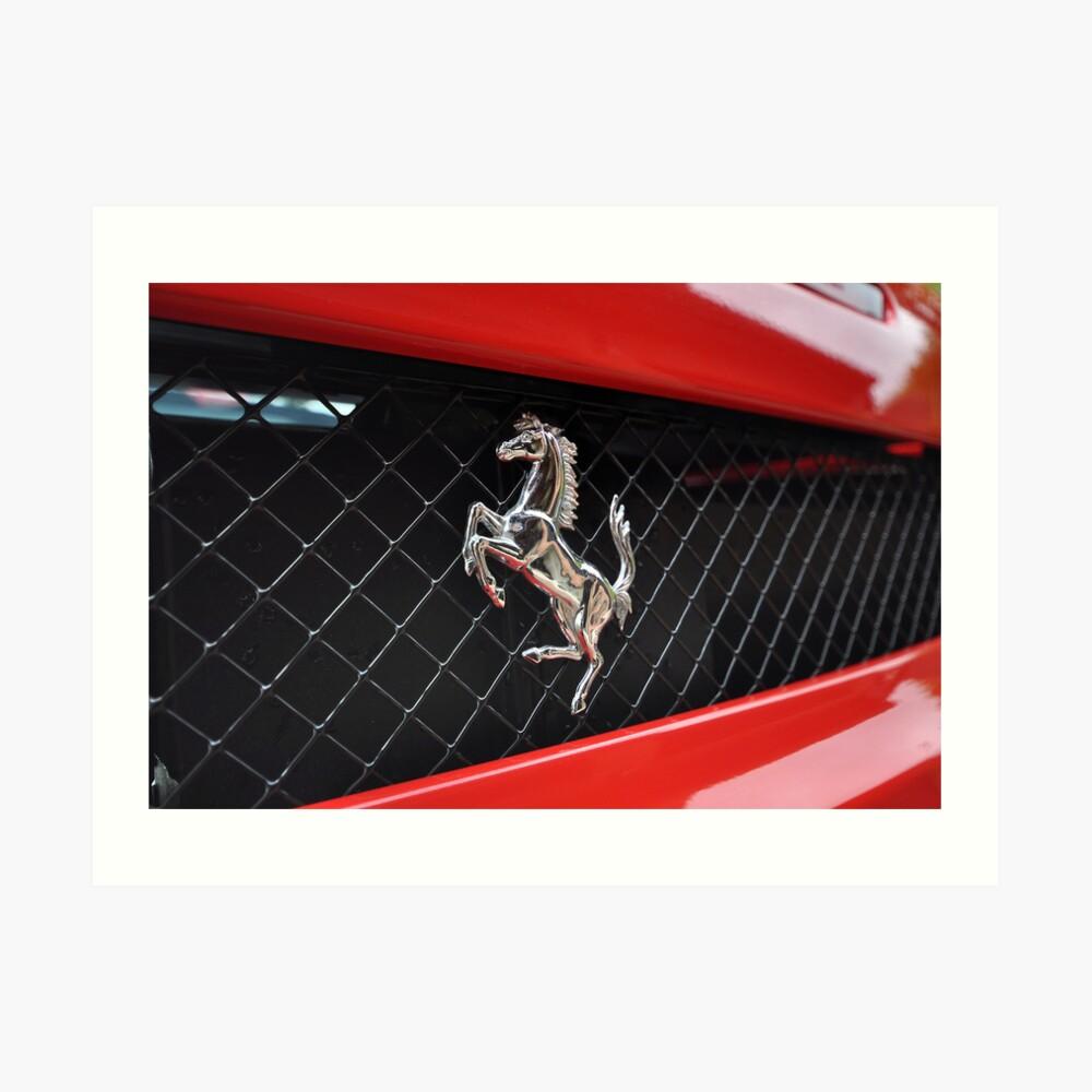 Ferrari F430 Prancing rear Art Print