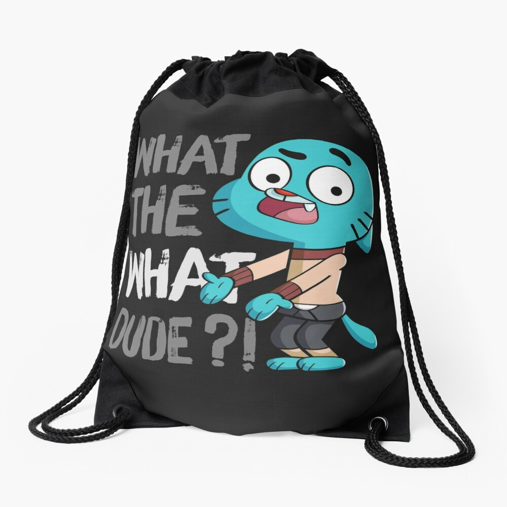 WHAT THE WHAT DUDE ?! Drawstring Bag