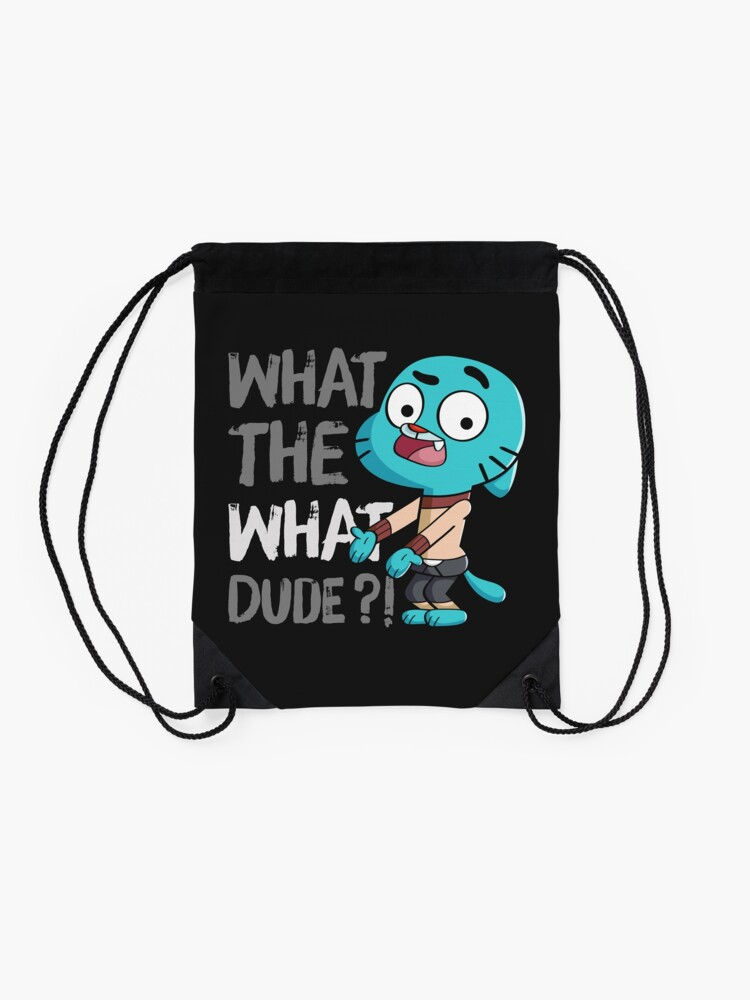 Alternate view of WHAT THE WHAT DUDE ?! Drawstring Bag