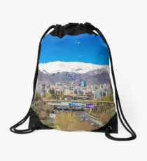 Crystal clear Tehran Drawstring Bag