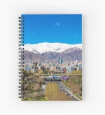 Crystal clear Tehran Spiral Notebook