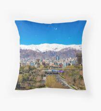 Crystal clear Tehran Throw Pillow