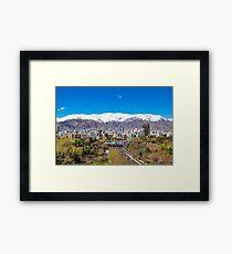 Crystal clear Tehran Framed Art Print