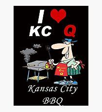 I Love KC Q - Kansas City BBQ Photographic Print