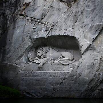 Lion Monument - Lucerne, Switzerland by laurasanders