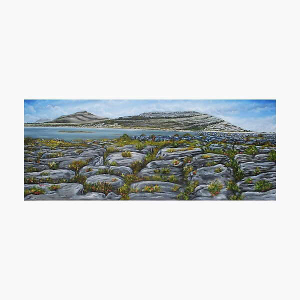 Mullaghmor, The Burren, County Clare - oil painting Photographic Print