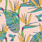 «Bohemian Birds of Paradise en rosa» de nadyanadya