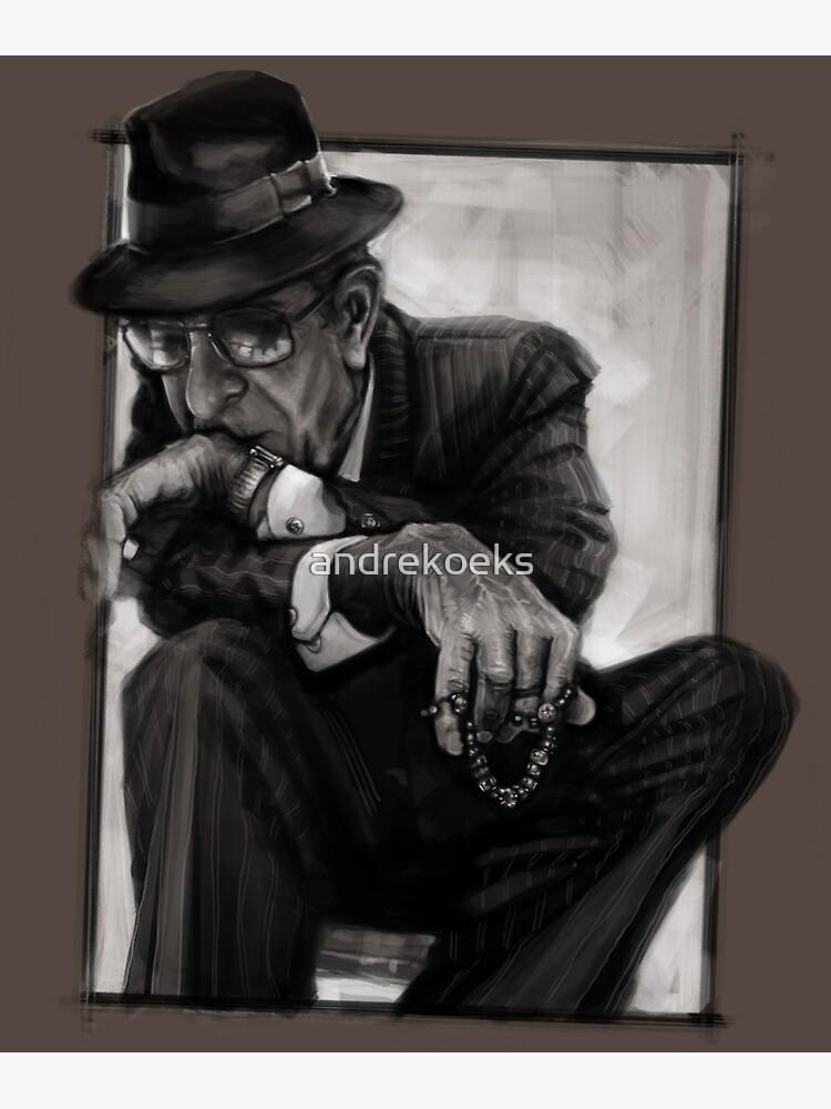 Leonard Cohen by andrekoeks