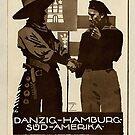 Danzig to Hamburg to South America 1930s Ad by edsimoneit