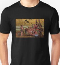 'Tametomo On Demon Island' by Katsushika Hokusai (Reproduction) Unisex T-Shirt