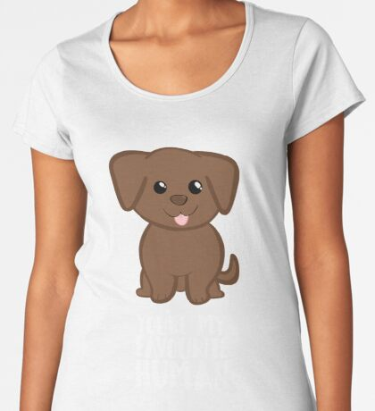 You're my Favourite HUMAN - Chocolate Labrador - Gifts from dog Premium Scoop T-Shirt