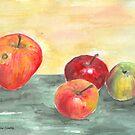 Stillleben mit Äpfeln von CarolineLembke