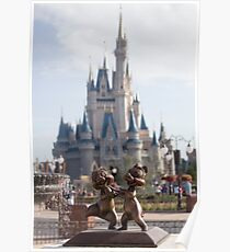 Chip and Dale in Magic Kingdom Poster