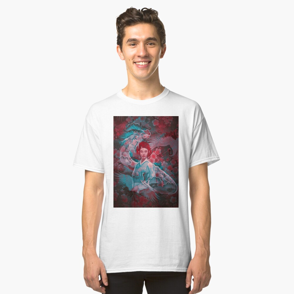 Girl and the dragon Classic T-Shirt