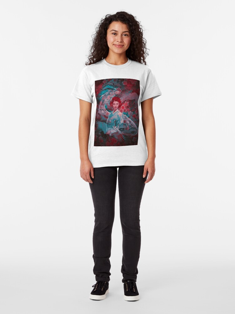 Alternate view of Girl and the dragon Classic T-Shirt
