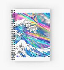 Cuaderno de espiral Gran Ola Holográfica