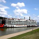 Mississippi Queen at Huntington by Fred Moskey