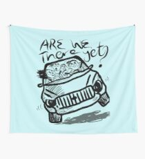 Are we there yet funny family vacation car Wall Tapestry