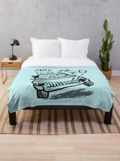 Are we there yet funny family vacation car Throw Blanket