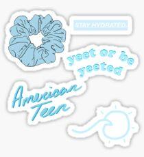 blaue Aufkleberpackung Sticker