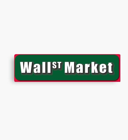 Wall Street Market Canvas Print