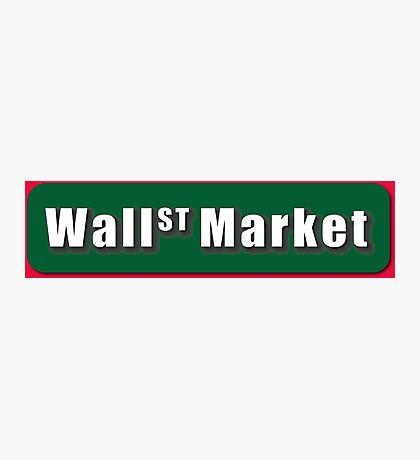 Wall Street Market Photographic Print
