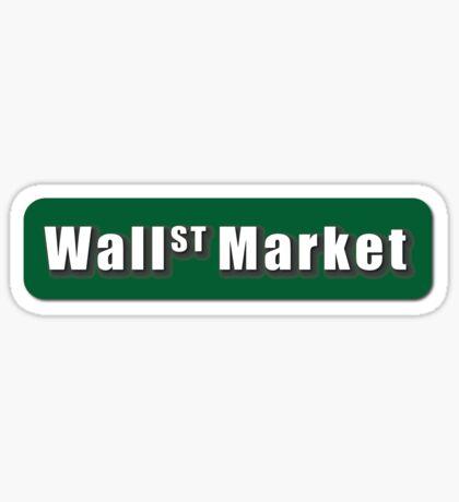 Wall Street Market Sticker