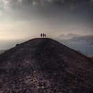 Walking on the border of the crater by Andrea Rapisarda