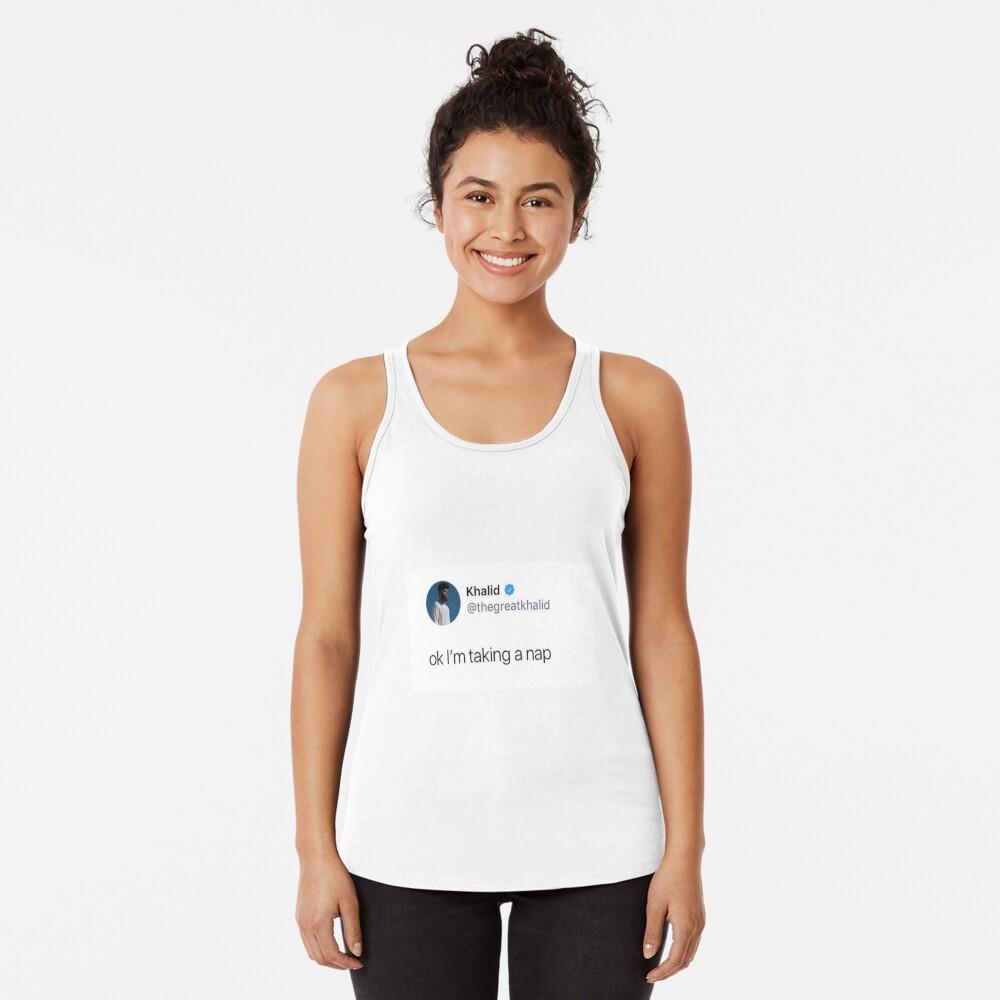 ok estoy tomando una siesta Camiseta con espalda nadadora