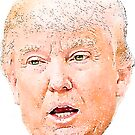 Aquarell Donald Trump von Emma  Thatcher