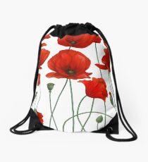 Poppy Stems. Drawstring Bag