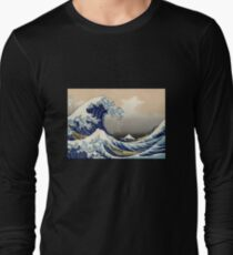 'The Great Wave Off Kanagawa' by Katsushika Hokusai (Reproduction) Long Sleeve T-Shirt